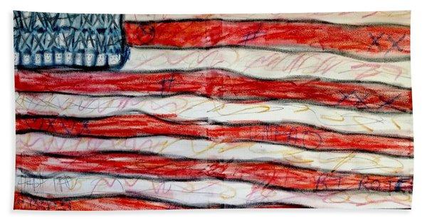 American Social Beach Towel