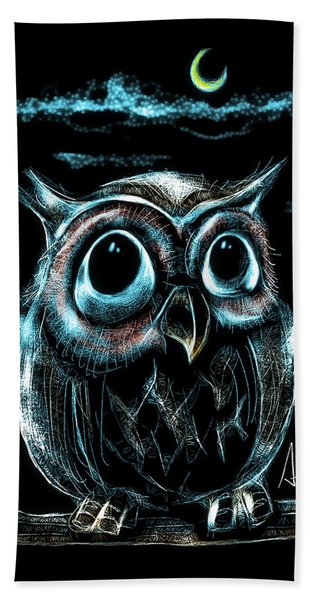 An Owl Friend Beach Towel