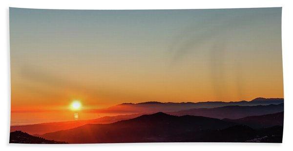Andalucian Sunset Beach Towel