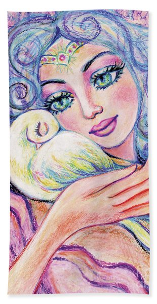 Angel Of Tranquility Beach Towel
