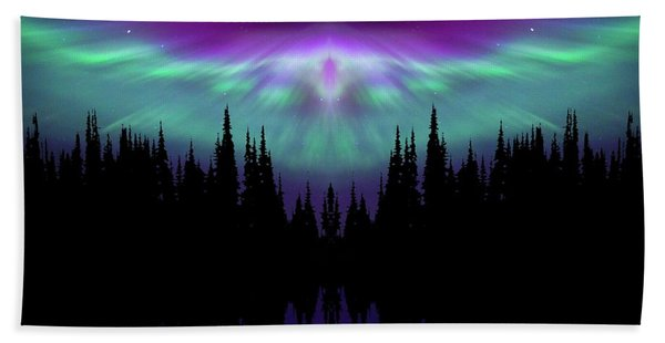 Angels Watching Over You Beach Towel