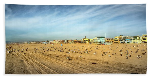 Beach Towel featuring the photograph Another Seagull Afternoon by Michael Hope