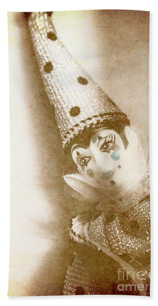Antique Carnival Doll Beach Towel