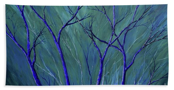 Aqua Forest Beach Towel