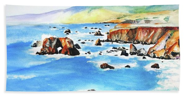 Arched Rock Sonoma Coast California Beach Towel
