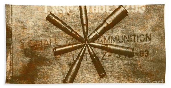 Army Star Bullets Beach Towel