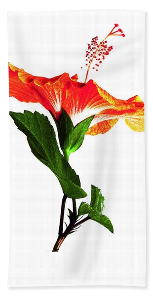 Art Orange Beach Towel