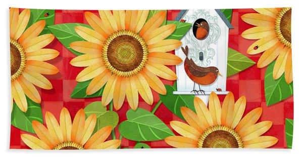 Sunflower Surprise Beach Towel