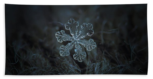 Snowflake Photo - Vega Beach Towel