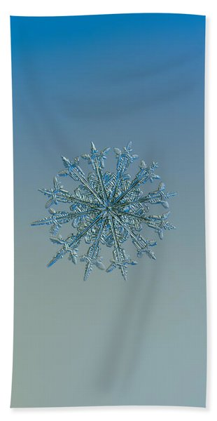 Snowflake Photo - Twelve Months Beach Towel