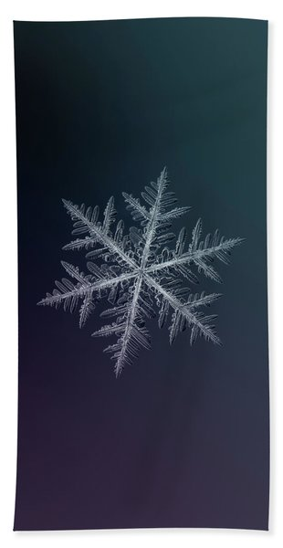 Snowflake Photo - Neon Beach Towel