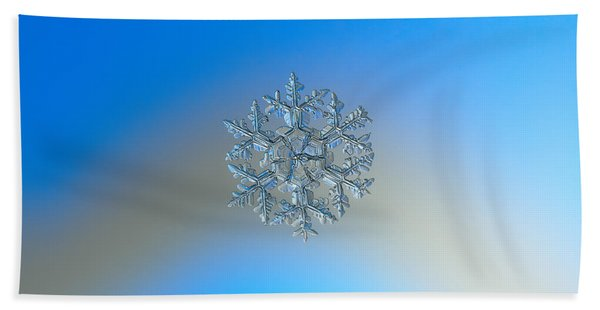 Snowflake Photo - Gardener's Dream Beach Towel