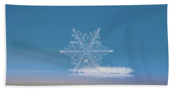Snowflake Photo - Cloud Number Nine Beach Towel