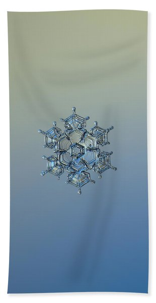 Snowflake Photo - Flying Castle Alternate Beach Towel