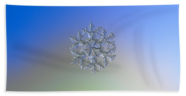 Snowflake Photo - Gardener's Dream Alternate Beach Towel