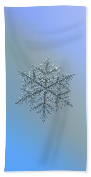 Snowflake Photo - Majestic Crystal Beach Towel