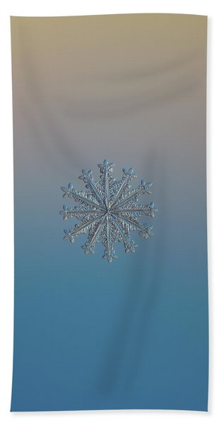 Snowflake Photo - Wheel Of Time Beach Towel