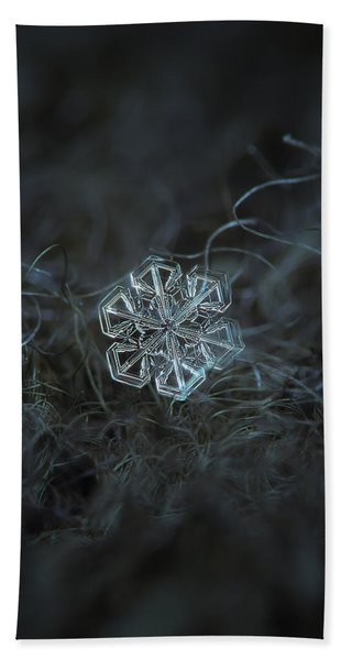 Snowflake Photo - Alcor Beach Towel