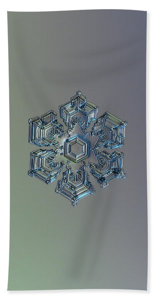 Snowflake Photo - Silver Foil Beach Towel