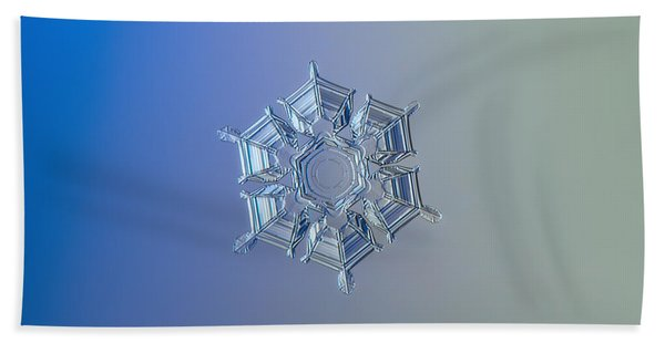 Snowflake Photo - Ice Relief Beach Towel