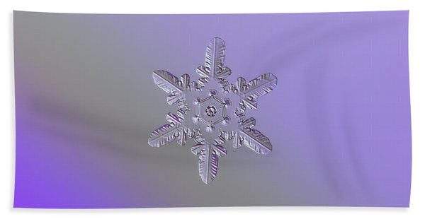 Snowflake Photo - Heart-powered Star Beach Towel