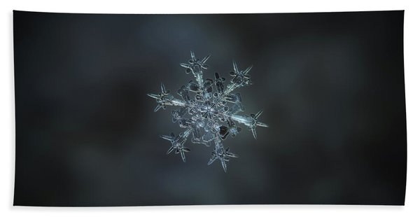 Snowflake Photo - Starlight II Beach Towel