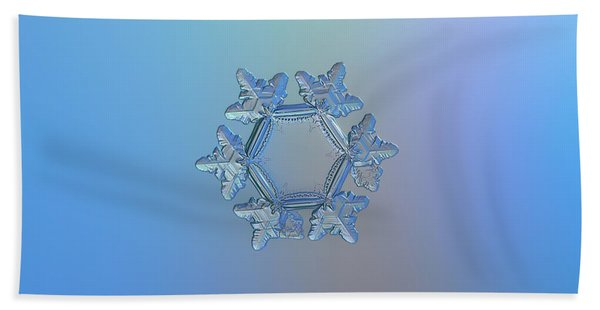 Snowflake Photo - Sunflower Beach Towel