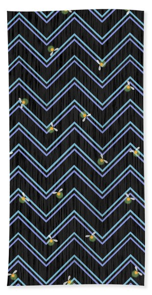 W Is For Wolves Beach Towel