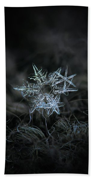 Snowflake Of 19 March 2013 Beach Towel