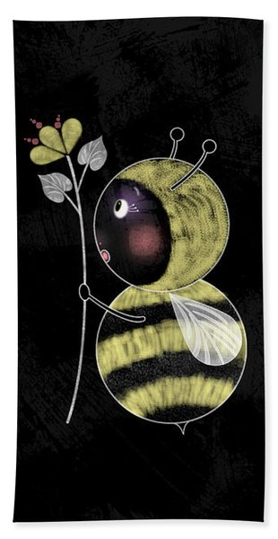 B Is For Bumble Bee Beach Towel