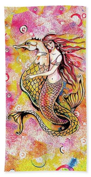 Black Sea Mermaid Beach Towel