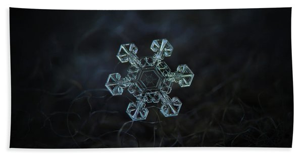 Real Snowflake - Ice Crown New Beach Towel