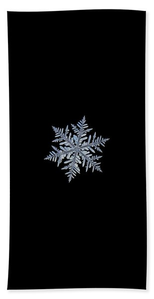 Real Snowflake - Silverware Black Beach Towel