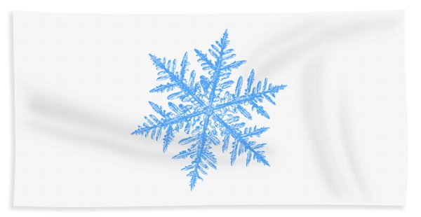 Snowflake Vector - Silverware White Beach Towel