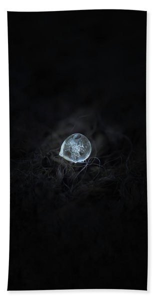 Drop Of Ice Rain Beach Towel