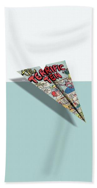 Terrific Ten Comic Book Ad Paper Airplane Beach Towel