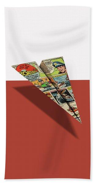 Ideal Boaterific Comic Book Ad Paper Airplane Beach Towel