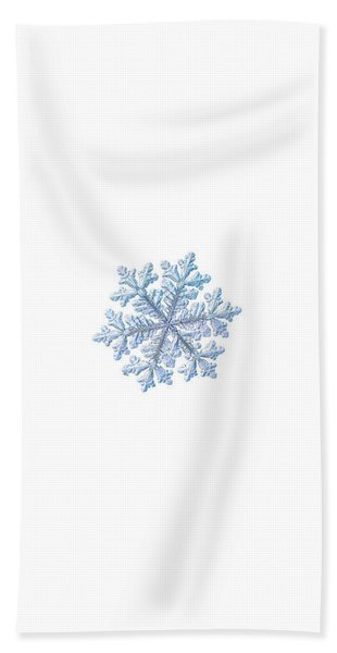Real Snowflake - Hyperion White Beach Towel