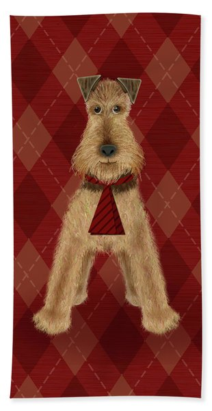A Is  For Airedale Beach Towel