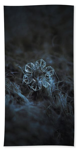 Snowflake Photo - The Core Beach Towel