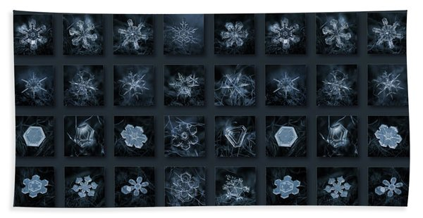 Snowflake Collage - Season 2013 Dark Crystals Beach Towel