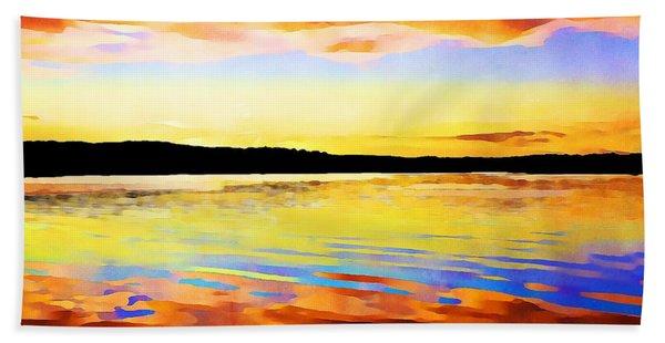 As Above So Below - Digital Paint Beach Towel