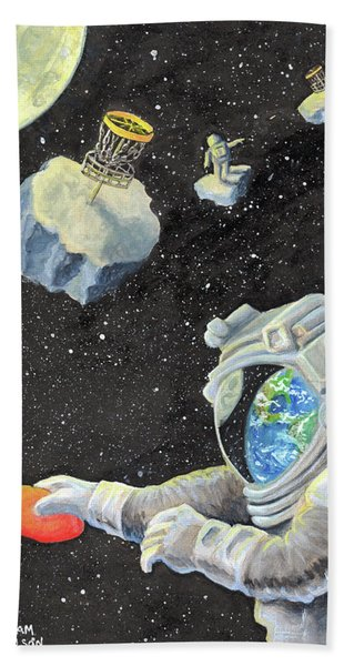 Astronaut Disc Golf Beach Towel