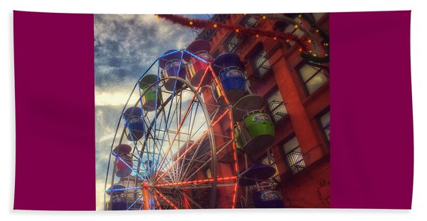 At The Feast Of San Gennaro - Reaching For The Sky Beach Towel