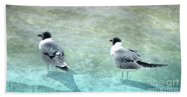 At The Waters Edge Beach Towel