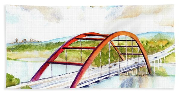 Austin 360 Bridge - Pennybacker Beach Towel