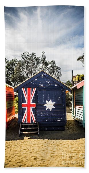 Australia Bathing Boxes Beach Towel