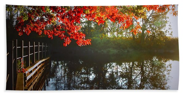 Autumn Creek Magic Beach Towel