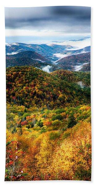 Autumn Foliage On Blue Ridge Parkway Near Maggie Valley North Ca Beach Towel