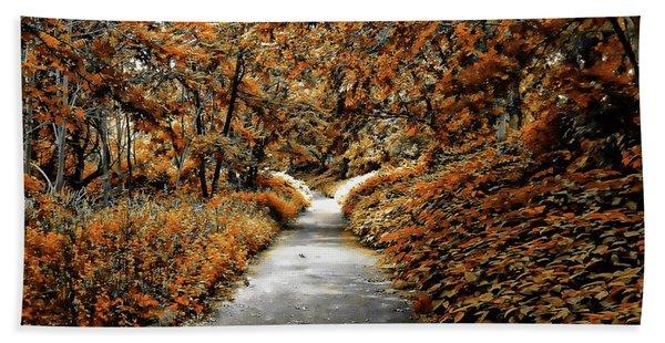 Autumn In Stamford Beach Towel